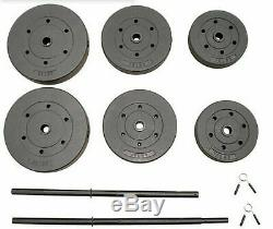 100lbs Total Combo Set with 2-Piece 5' Standard Barbell & Vinyl Weight Plates