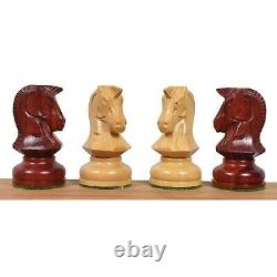 1970s' Dubrovnik Chess Pieces Only Set- Triple Weighted Bud Rosewood 3.8 King