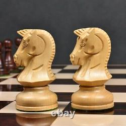 1970s' Dubrovnik Chess Pieces Only Set- Triple Weighted Rosewood 3.8 King