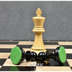 1972 Championship Fischer Spassky Chess Pieces Set -Triple Weighted Ebony Wood