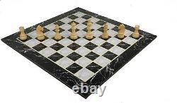 19 Large Wood Tournament Chess board with Weighted Staunton Pieces Set and Bag