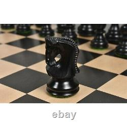 2.6 Russian Zagreb Chess Pieces Only set Weighted Ebonised Boxwood