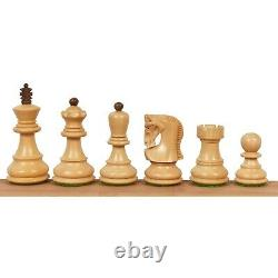 2.6 Russian Zagreb Chess Pieces Only set Weighted Golden Rose wood & Boxwood