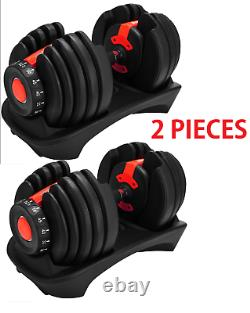 2 Pieces Adjustable dumbbell set 5 52 Lbs Gym Weights 552
