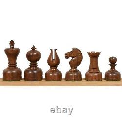 3.1 Library Series Staunton Chess Pieces Only Set Weighted Boxwood & Acacia