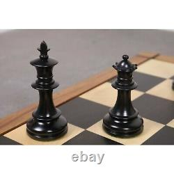 3.5 Persian Knight Staunton Chess Pieces Only set Weighted Ebonised Boxwood