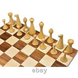 3.6 Herman Ohme Minimalist Chess Pieces Only set- Weighted Golden Rosewood