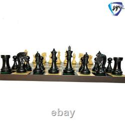 3.75 Imperial Staunton Chess Pieces Set Ebonywood & Boxwood Weighted 4Q