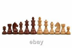 3.75 Staunton Chess Pieces Set in Golden Rosewood German Knight Weighted 4Q
