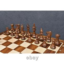 3.7 British Staunton Weighted Chess Pieces Only set- Golden Rosewood & Boxwood