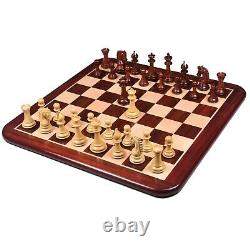 3.7 Emperor Series Staunton Chess Pieces Only set- Double Weighted Bud Rosewood
