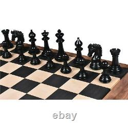3.7 Emperor Series Staunton Chess Pieces Only set- Double Weighted Ebony Wood