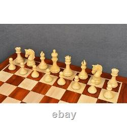 3.8 Imperial Staunton Chess Pieces Only set Weighted Bud Rose Wood