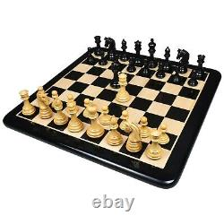 3.8 Imperial Staunton Luxury Chess Pieces Only set Weighted Ebony Wood