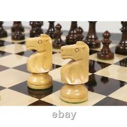 3.8 Reproduced W. T. Pinney Staunton Chess Pieces only set Weighted Rosewood
