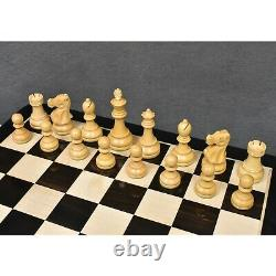 3.8 Reykjavik Series Staunton Chess Pieces Only set Weighted Boxwood