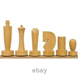 3.9 Berliner Modern Minimalist Chess Pieces Only set- Weighted Ebonised Boxwood