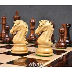3.9 Craftsman Knight Staunton Chess Pieces Only set-Triple weighted Rose Wood