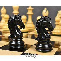 3.9 Craftsman Series Staunton Chess Pieces Only set-Triple weighted Ebony Wood