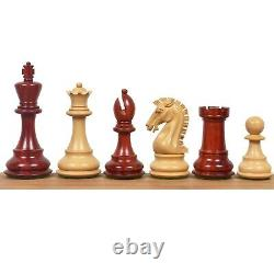 3.9 Craftsman Staunton Chess Pieces Only set-Triple weighted Bud rose Wood
