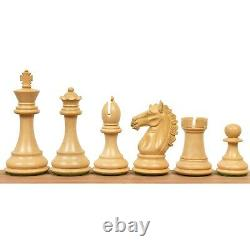 3.9 Exclusive Alban Staunton Chess Pieces Only set Triple Weighted Ebony Wood