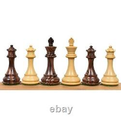 3.9 Exclusive Alban Staunton Chess Pieces Only set Triple Weighted Rose Wood