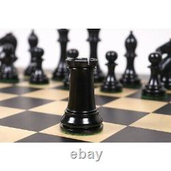 3.9 Hastings Series Staunton Chess Pieces Only Set- Ebony Wood- Triple Weighted