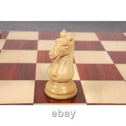 3.9 Hastings Staunton Chess Pieces Only Set Bud Rosewood Triple Weighted