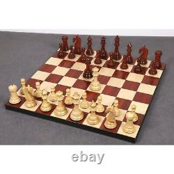 3.9 New Columbian Staunton Chess Pieces Only Set -Bud Rosewood- Triple Weighted