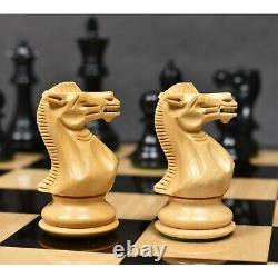 3.9 Professional Staunton Chess Pieces Only Set Triple Weighted Ebony wood