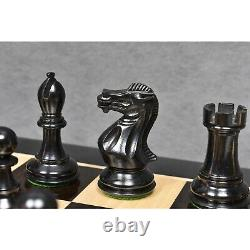 3.9 Professional Staunton Chess Pieces Only Set Weighted Ebony wood