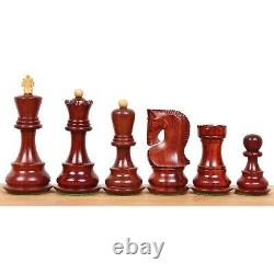 3.9 Russian Zagreb 59' Chess Pieces only set Double Weighted Bud Rose Wood