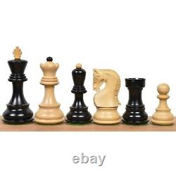 3.9 Russian Zagreb 59' Chess Pieces only set Triple Weighted Ebony Wood