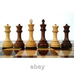 3.9 Unique Old Columbian Weighted Chess Pieces Set Sheesham Wood- 4 Queens