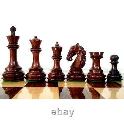 3.9 Unique Old Columbian Weighted Chess Pieces set Rosewood & Boxwood