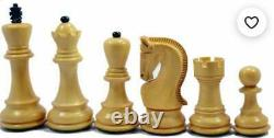 4Russian Zagreb Chess Pieces Only Set 2 Qween Extra Weighted Ebonised