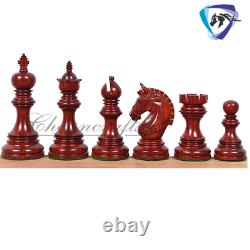 4.1 Bud Rosewood Luxury Staunton Chess Pieces Set ARMOURED Weighted-4 Queens
