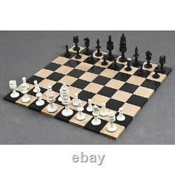 4.1 Lotus Series Hand Carved Chess Pieces Only Set Camel Bone