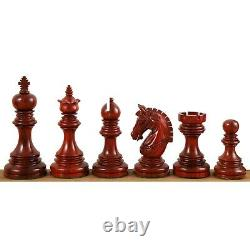 4.1 Stallion Staunton Luxury Chess Pieces Set Triple Weighted Bud Rose Wood