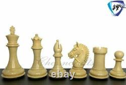 4.1 Staunton Chess Pieces Set in Ebonised Boxwood- EXCALIBUR Weighted 4 QUEENS
