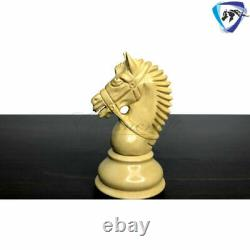 4.1 Staunton Chess Pieces Set in Ebony & Boxwood- EXCALIBUR Weighted 4 QUEENS