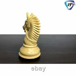 4.1 Staunton Chess Pieces Set in Golden Rose wood & Boxwood- EXCALIBUR Weighted