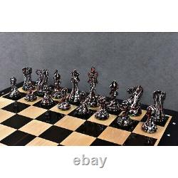 4.1 Texture Painted Staunton Chess Pieces Only set Weighted Boxwood