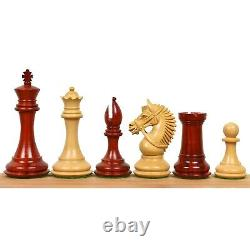 4.2 American Staunton Luxury Chess Pieces Only Set-Triple Weighted Budrose Wood