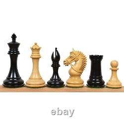 4.2 American Staunton Luxury Chess Pieces Only Set Triple Weighted Ebony Wood