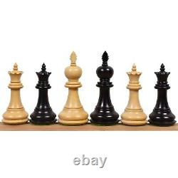 4.2 Executive Staunton Chess Pieces Only Set Weighted Ebonised Boxwood