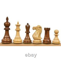 4.2 Executive Staunton Chess Pieces Only Set Weighted Golden Rose wood