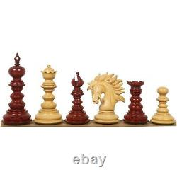 4.3 Marengo Luxury Staunton Chess Pieces Only Set- Bud Rosewood Triple Weight
