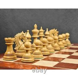 4.3 Napoleon Luxury Staunton Chess Pieces Only Set -Triple Weight Bud Rosewood