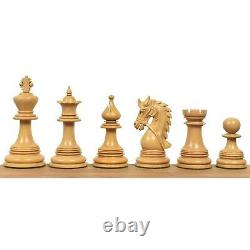 4.3 Napoleon Luxury Staunton Chess Pieces Only Set -Triple Weighted Ebony Wood